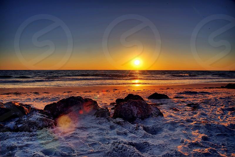 Sun; Beach; Sunny; Orange; Siesta Key; Sarasota; Florida photo