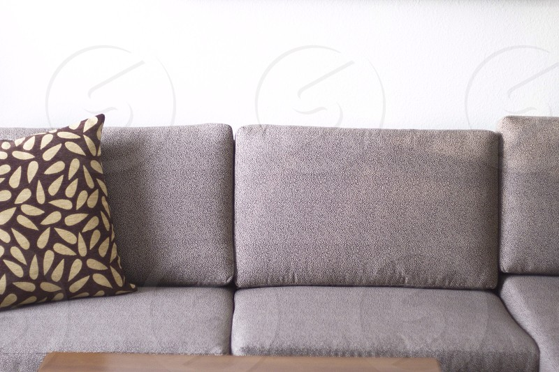 grey couch photo