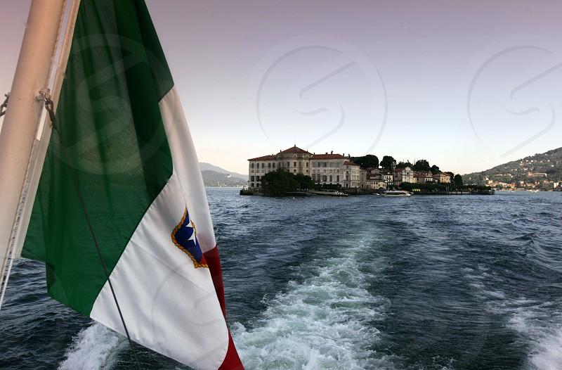 The island of Isola Madre near to Verbania on the Lago maggiore in the Lombardia  in north Italy.  photo