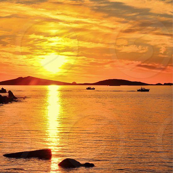Scilly Islessunseteveningdramaticsky photo