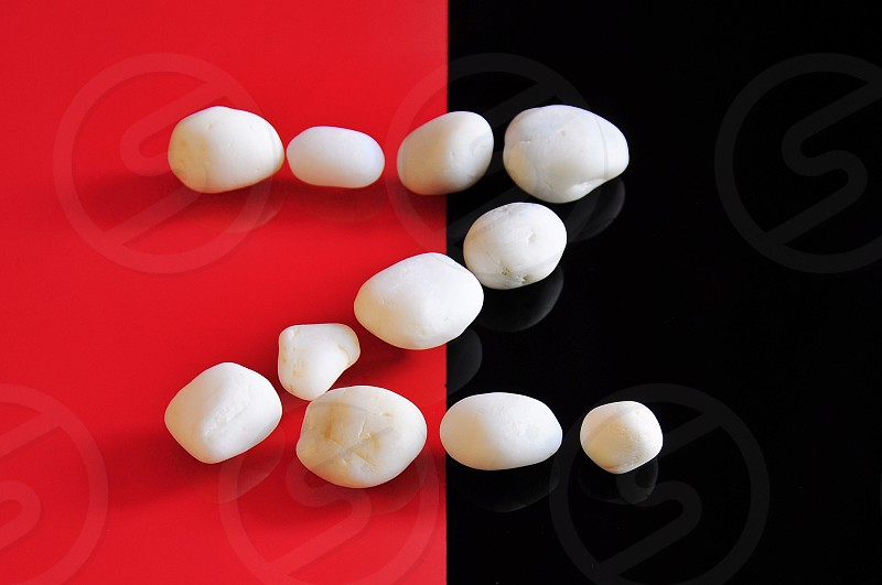 white stones arranged to form a letter Z photo