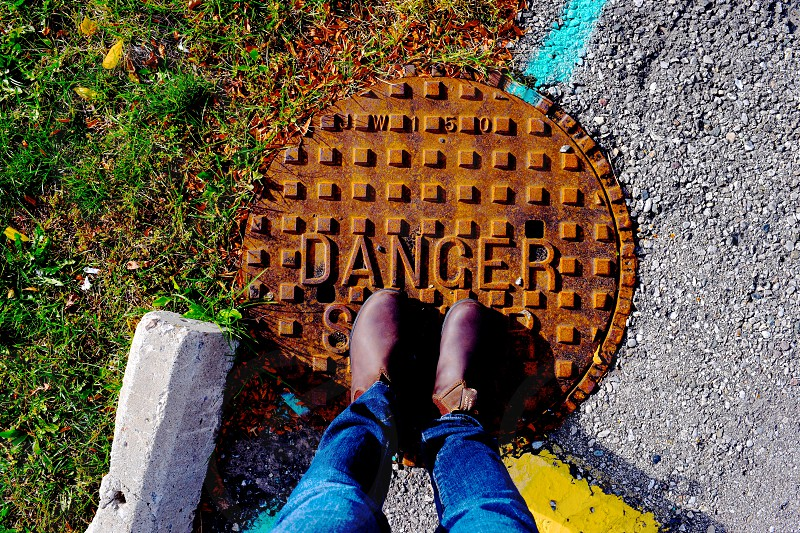 Danger ahead. photo