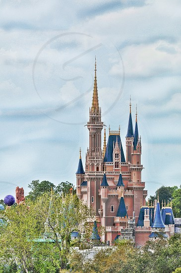 Disney's Cinderella's castle taken from the Bay Lake towers observation area. edited for effect. photo
