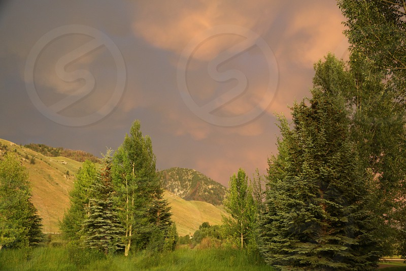 Storm Clouds Rocky Mountains photo