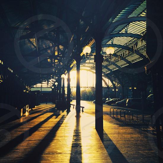 Green park station Bath. Beautiful sun and shadows. photo