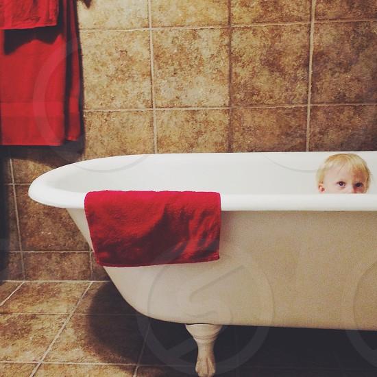 Bath time adventures  photo
