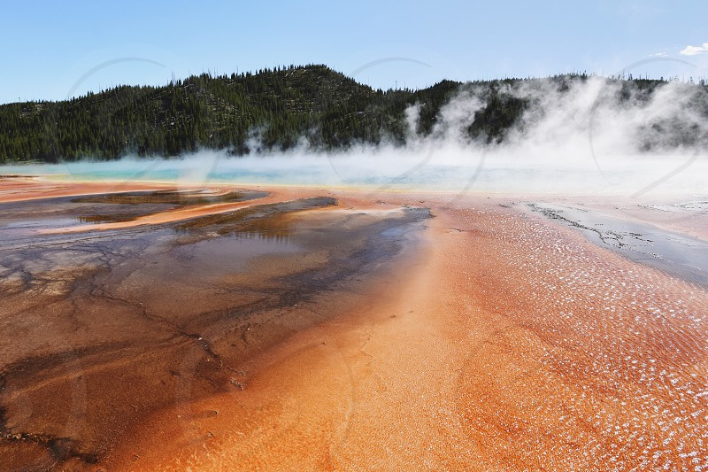 Yellowstone National Park Grand Prismatic Spring photo
