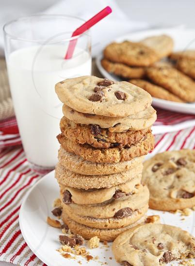 Festive - milk and cookies photo