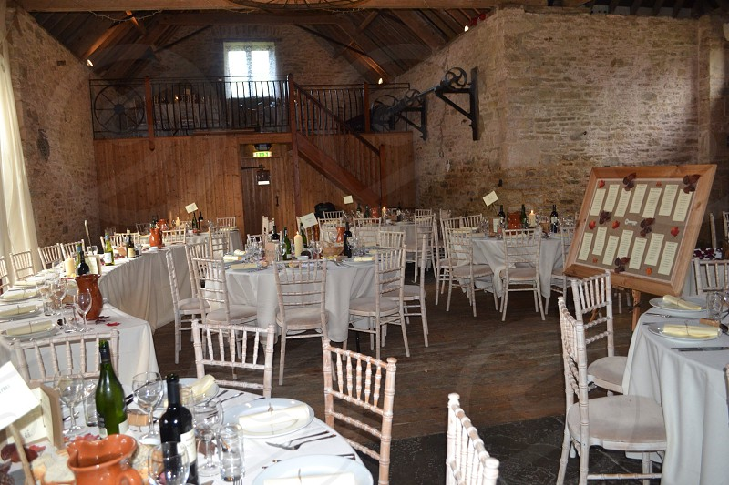 Wedding venue. Reception dinner.  photo