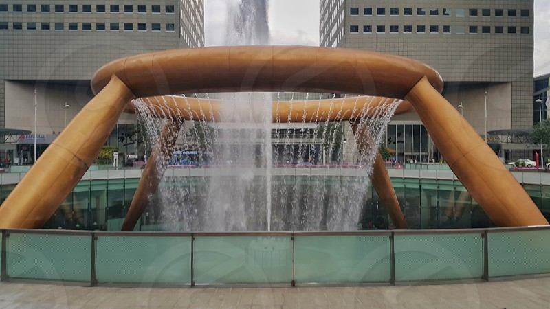 Three fountain of wealth in Suntec city Singapore photo
