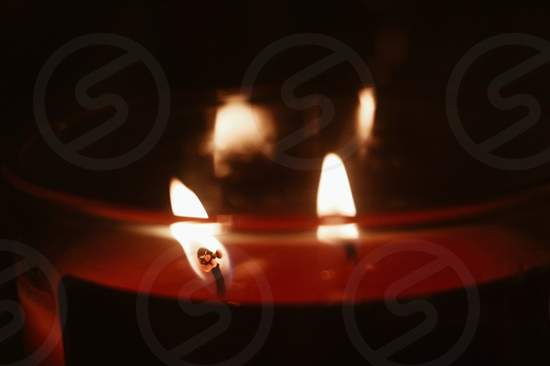 Candle fire flame heat light  photo