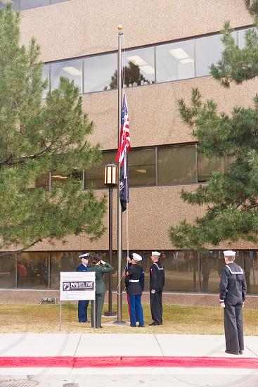 Prisoner of war flag honor ceremony photo