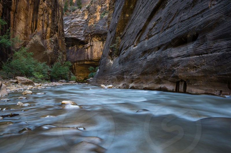 The Narrows Zion National Park. photo