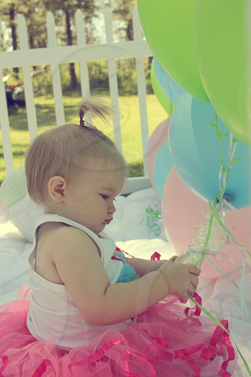 Baby Girl Balloons photo