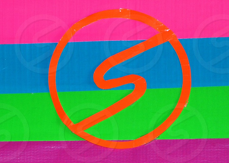 Snapwire Logo made of pink orange blue green and purple Duct Tape photo