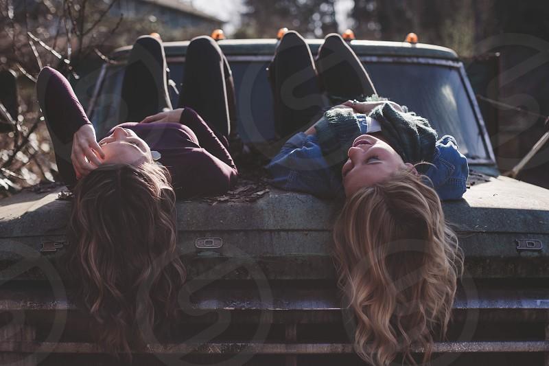 Friends sisters trucks  photo