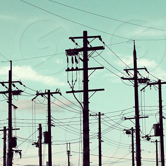 concrete electric post photo