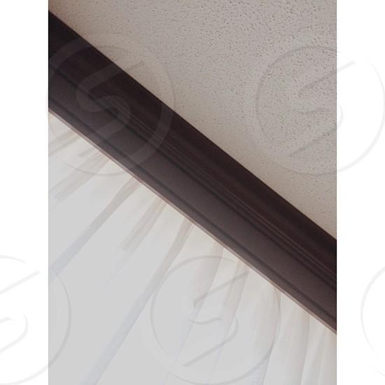 black wall trim photo