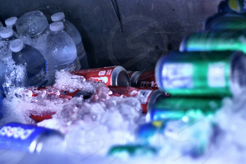 Ice cold beverages photo