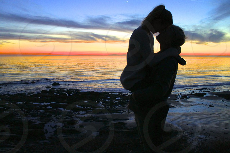 Kissing under the stars photo