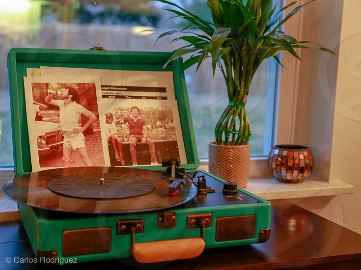 Record player vintage music player  photo