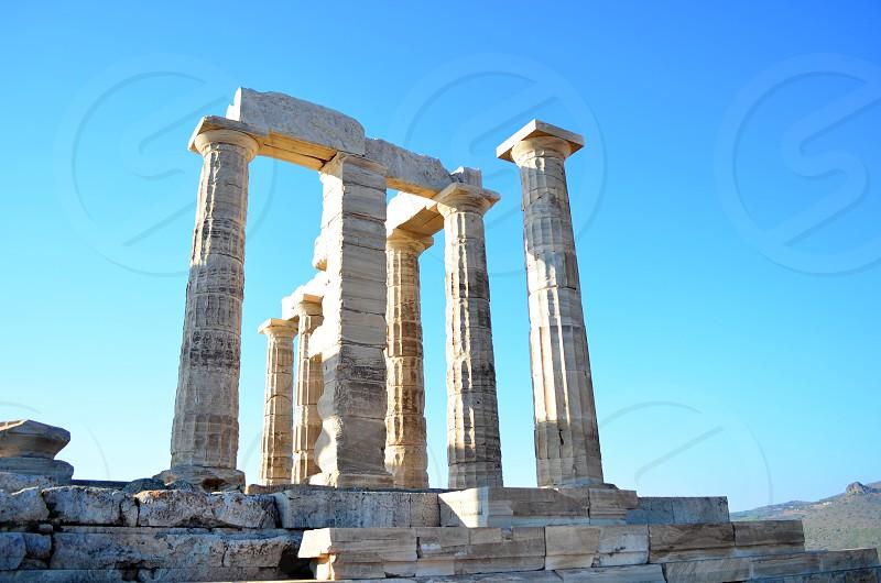 Temple Of Poseidon at Sounion Greece photo