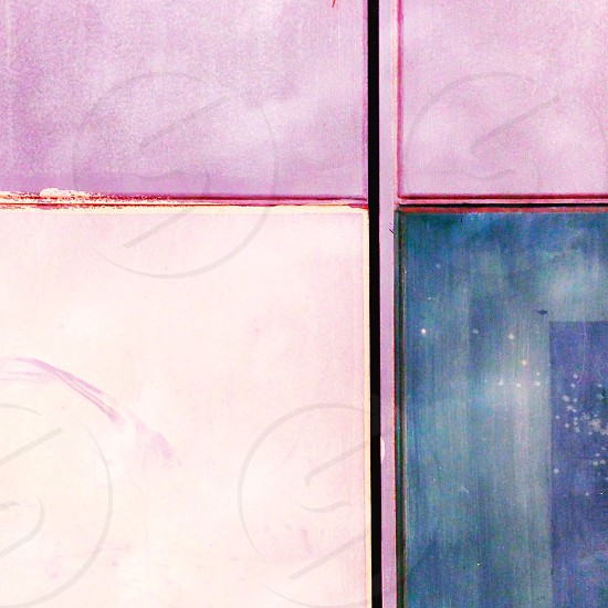 white blue and purple tiled surface photo