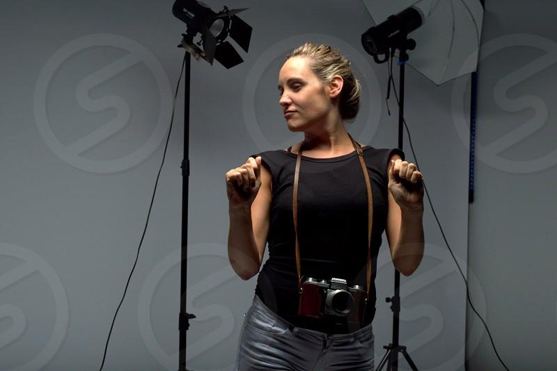 Photographer studio  owner setup photo