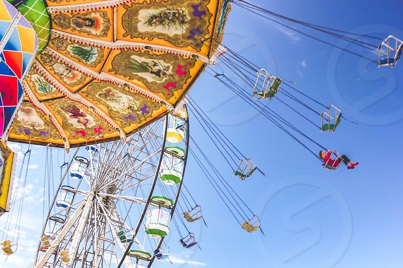 fun ride at an amusement park  photo