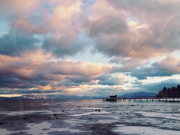 Lake Tahoe pier photo