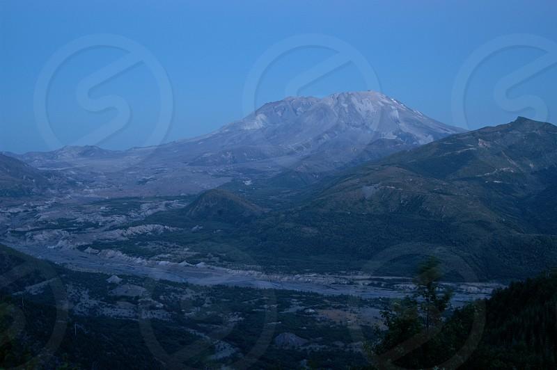 Mt. St. helens at dusk. photo
