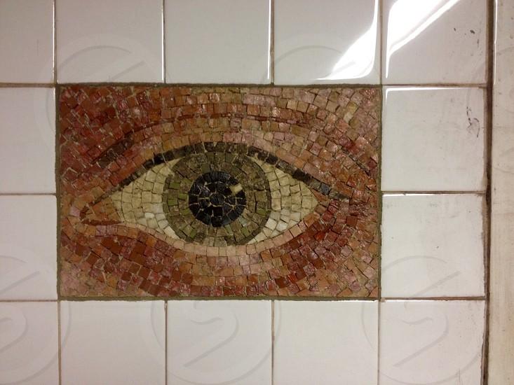 Eye see you! New York subway station. photo