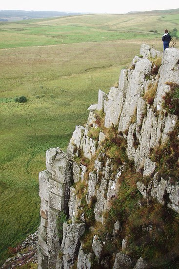 Overseeing the edge of England Hadrian's Wall. photo