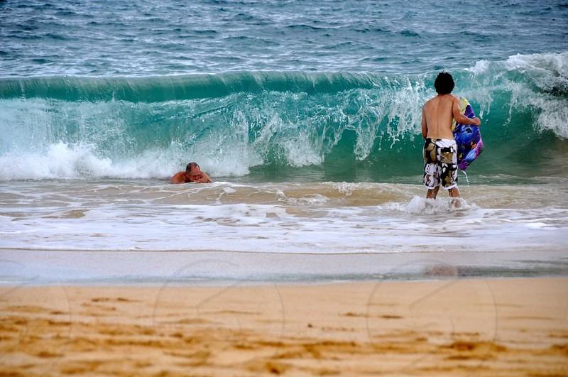 Body surfing- Maui Hawaii photo