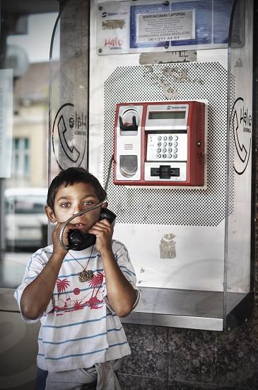 Kid Telephone Homeless Street Call Look Eyes Child Portrait Photography Life photo
