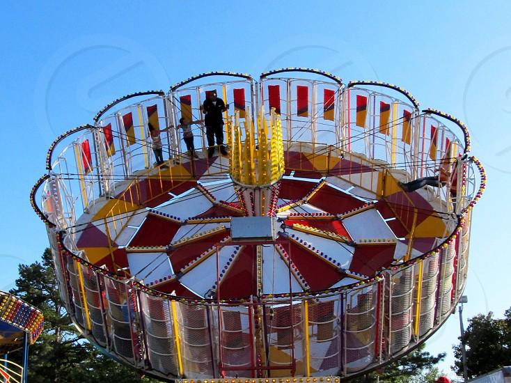 Fair amusement ride photo