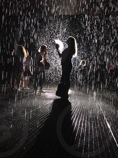 Rain room MOMA photo