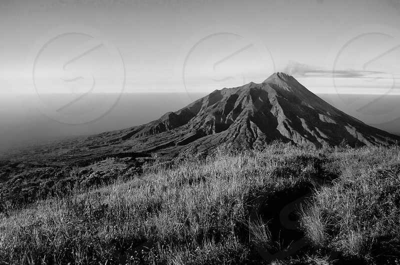 merapi located in central java photo