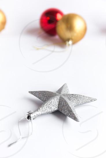 Christmas icons. Star & balls photo