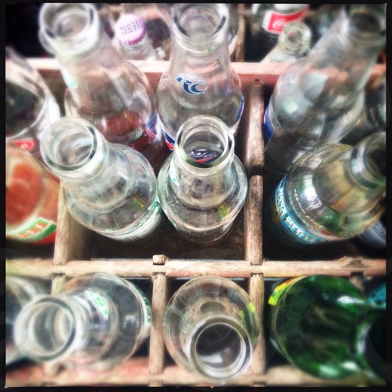 Empty bottles photo