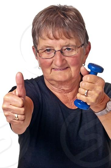Grandma loves weight lifting photo