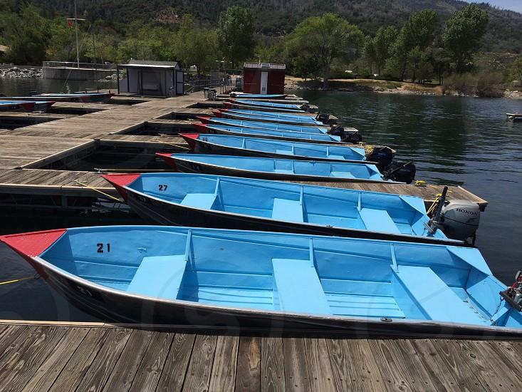 Boats lake camping nature photo