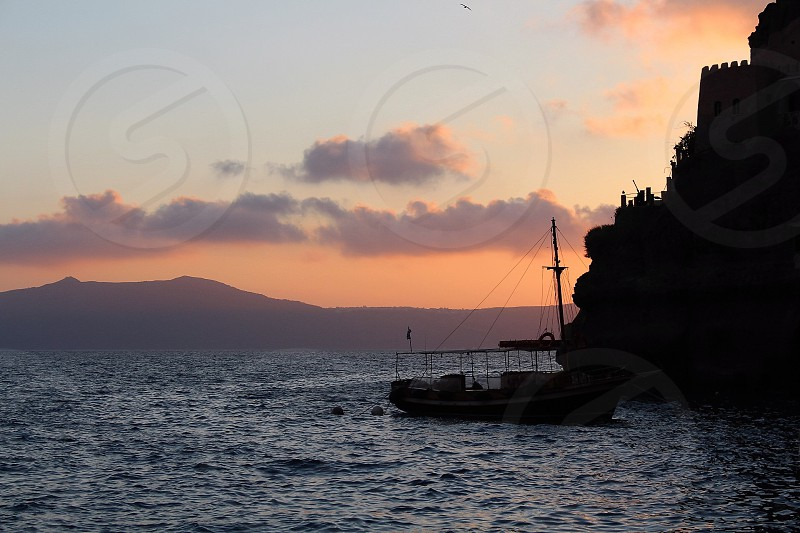 Santorini Sea Boat  photo