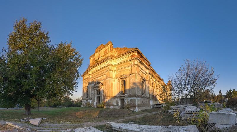 Ruins of the Zelts Catholic Church in the village of Limanskoye Odessa Region Ukraine photo