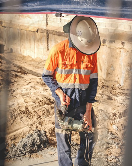 worker at a construction site photo