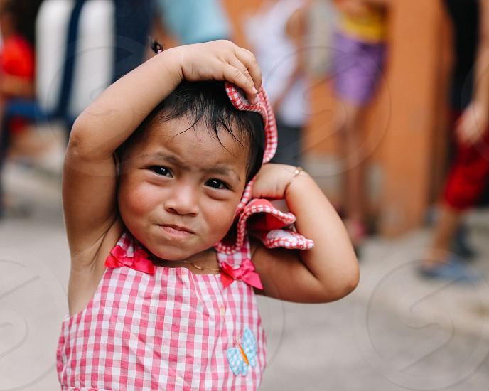 Costa Rican girl San Jose Costa Rica. photo