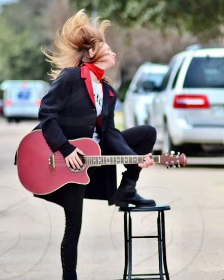Concert street music festival guitarist  photo