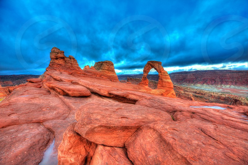 Arches National Park Delicate Arch in Moab Utah USA photo