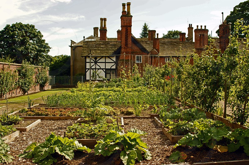 United Kingdom England Lancashire. The walled garden Astley Hall. photo