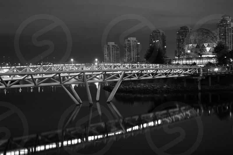Lit Bridge. photo